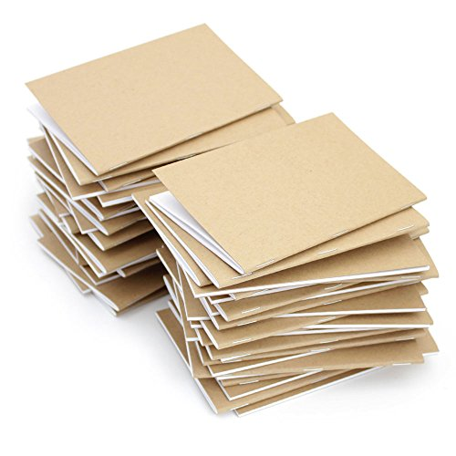Kraft Notebook, 3.5 X 5.5 Inches, Set of 50, Bulk Notebooks, Kraft Brown, Blank Pages, Blank Cover, Small Kraft Journals Bulk by Beech Tree Paper