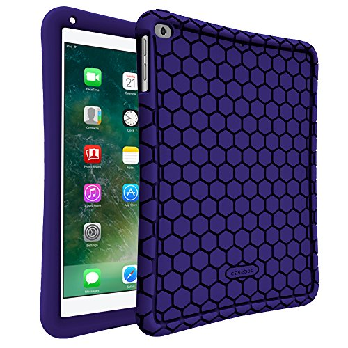 Fintie iPad 9.7 2018 2017 / iPad Air 2 / iPad Air Case - [Honey Comb Series] Light Weight Anti Slip Kids Friendly Shock Proof Silicone Protective Cover for iPad 6th / 5th Gen, iPad Air 1 2, Navy