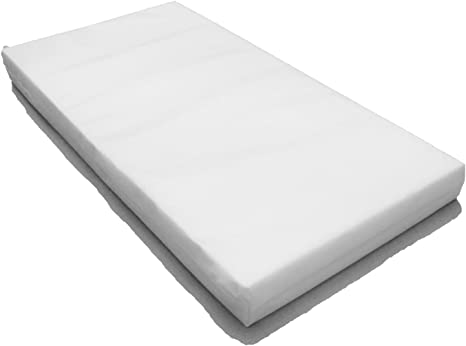 Baby Toddler COT Crib Bed Breathable Quilted and Waterproof Foam Mattress Size 112 x 55 x 10 cm