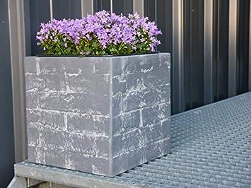 Blumenkübel Wall Aus Fiberglas Wie Orig Mauergestein Pflanzkübel