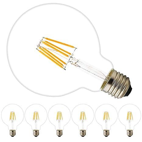 G95 6 W 220 V LED Iluminación de grandes Bombillas Bombilla Lámpara E27 Regulable 2200 K