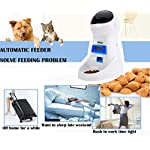 PetCul Automatic Cat Feeder 3L Pet Food Dispenser Feeder for Medium & Large Cat Dog——4 Meal, Voice Recorder & Timer Programmable, Portion Control 12