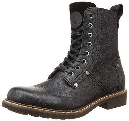 G-Star Raw Men's Labour Boot Ankle Bootie, Black, 44 EU/11 (G-star Leather)