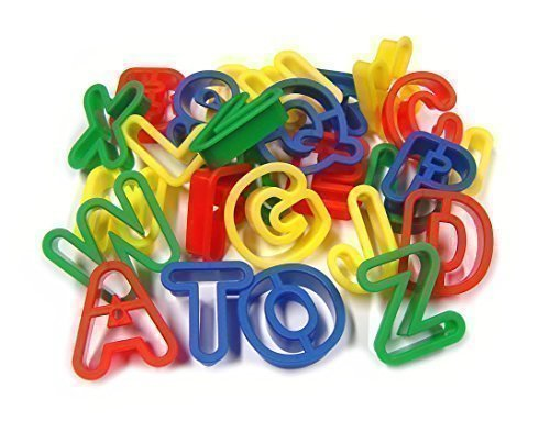 26 Upper Case Plastic Playdough Cookie Cutters A-Z Alphabet Letters Major Brushes LTD