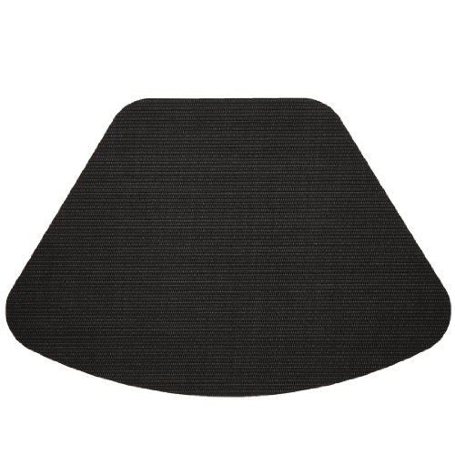 Set of 2 Black Wipe Clean Wedge-Shaped Placemats for Round Tables