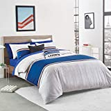 Lacoste Praloup Comforter Set, King, Blue, White