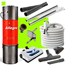 Allegro Central Vacuum MU4100 3,000 sq. ft. Unit, Electric Powerhead Hose Package