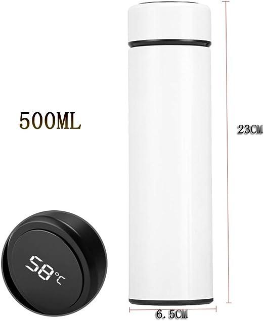LED-Touchscreen-Temperaturanzeige-141 500ml Thermosflasche Wasserflasche Vakuum Isolierbecher 304 Edelstahl