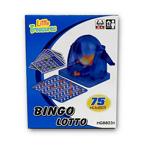 Game Bingo Deluxe Cage (Bingo Game an Educational 75 Number Bingo Set Lottery Party Game (2 to 10 players ? Ages 6 +))