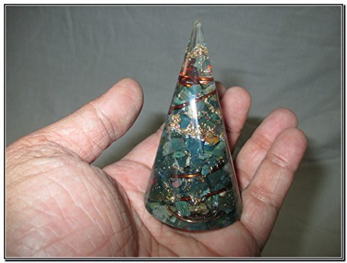 Jet Exquisite Bloodstone Orgone Antenna Cone Chakra Crystal Gemstones Agate Onyx Christmas EMF Protection Divine (What Do Christmas Trees Represent)