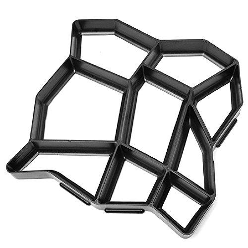 TeekLand DIY Plastic Concete Garden Path Road Portable Reusable Mold Black Concrete Garden Statue Mold