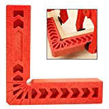 4PC Heavy Duty 90 Degree Positioning Squares, Plastic 6'' L Shape Corner Clamp Woodworking Positioning Ruler Fixing Carpenter Tool (6 inch)