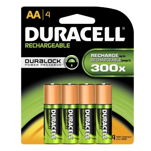 Duracell Rechargeable AA Batteries 4 Count (Packaging May (Duracell Battery Life)