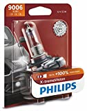 Philips 9006 X-tremeVision Upgrade Headlight Bulb with up to 100% More Vision, 1 Pack