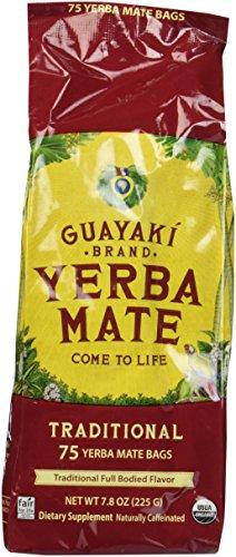 Guayaki Traditional Yerba Mate, 75 Tea Bags 7.9oz (Pack of 2) 1 Item Package Length: 7.112cm Item Package Width: 9.652cm Item Package Height: 31.496cm