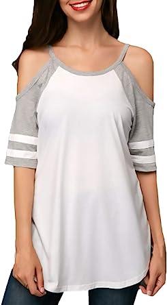Camisas Verano Mujer Elegante Camisetas Classic Cuello ...