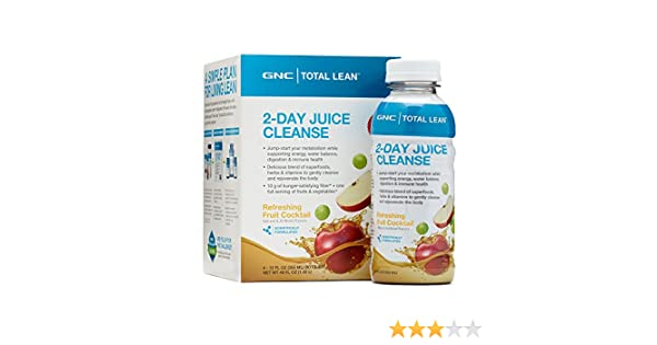 Amazon.com: GNC Total Lean 2-Day Juice Cleanse - Refreshing Fruit Cocktail  4 Bottles: Health & Personal Care