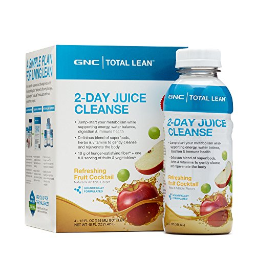 GNC Total Lean 2-Day Juice Cleanse - Refreshing Fruit Cocktail 4 bottles