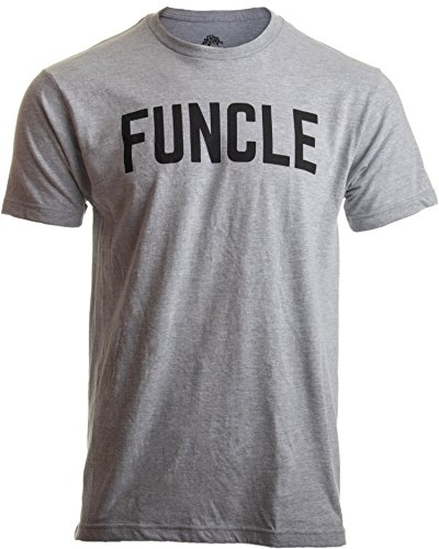 Funcle | Fun Funny Uncle New Baby Pregnancy Maternity Niece Nephew Men T-Shirt-(Adult,L) Heather Grey