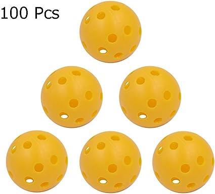 Pelota de practica de golf Juego de 100 bolas de plástico para ...