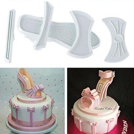 9X Plástico Lady Cutter Zapatos de tacón alto sandalias para decoración de tartas molde de horno 5: Amazon.es: Hogar