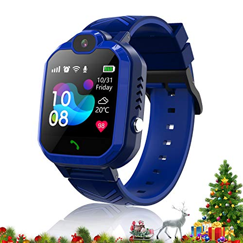 Kids Smartwatch Phone Waterproof Smart Watch for Kids watch with GPS Tracker SOS Camera Alarm Clock Security Zone Voice Chat Smartwatch for Kids with Phone Birthday Gift for Girls Boys Watch Age 5-15