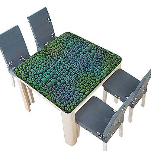 PINAFORE Polyester Tablecloths Alligator Skin Seamless Crocodile Table Cover 37.5 x 37.5 INCH (Elastic Edge)