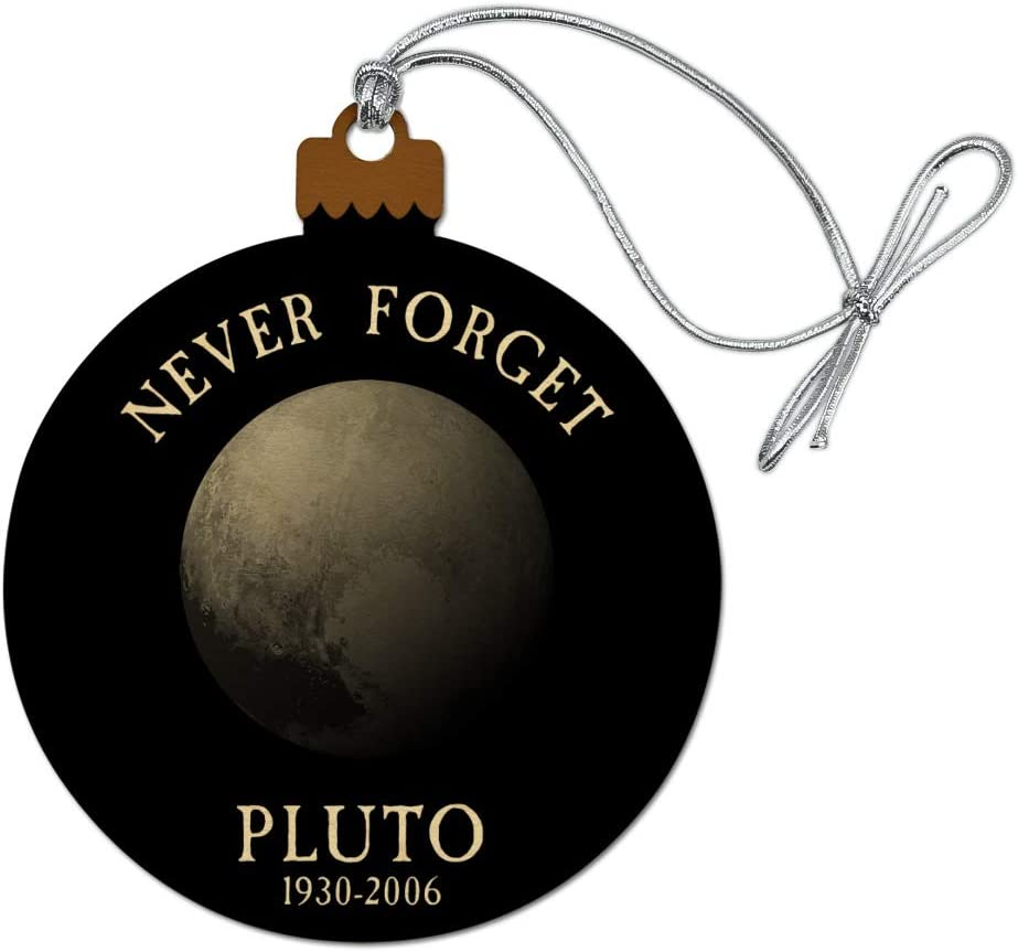 GRAPHICS & MORE Never Forget Pluto Planet Astronomy Memorial Funny Wood Christmas Tree Holiday Ornament