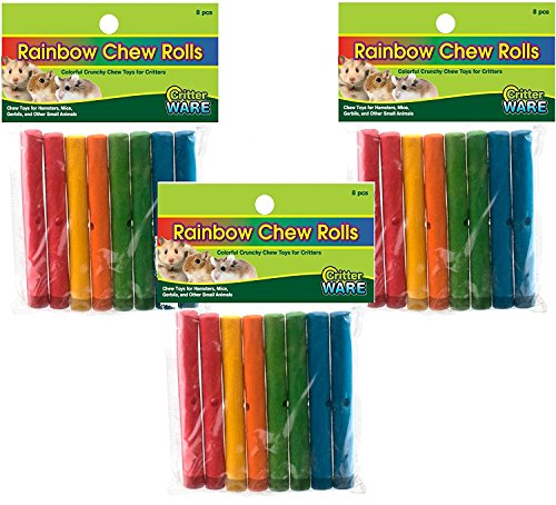24 Piece Ware Manufacturing Assorted Rainbow Chews Rolls