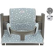 Cushion for high Chair Stokke Tripp Trapp by Janabebé (White Star)