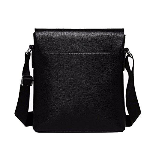 Messenger Briefcases Man Work Bag Leather Shoulder Gtuko Black Bags xdIO7XXq