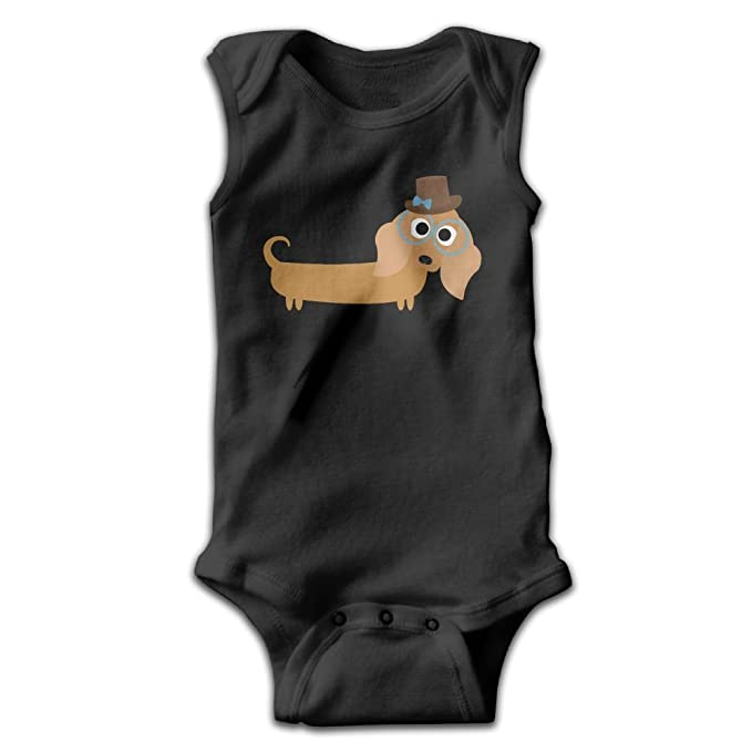 9f4c53965 Image Unavailable. Image not available for. Color: Address Verb Long Haired  Dachshund Baby Sleeveless Bodysuits ...