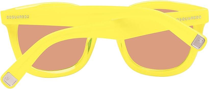 Mixte Adulte Gelb Dsquared2 Dsquared Sunglasses Dq0198 41G 49 Montures de lunettes Jaune
