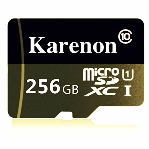Karenon 256GB Micro SD SDXC Memory Card High Speed Class 10 with Micro SD Adapter, Designed for Android Smartphones, Tablets And Other MicroSDXC Compatible Devices by Karenon