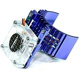 Integy RC Hobby T8074BLUE Motor Heatsink 540 Size w/ Cooling Fan for Slash, Stampede 2WD, Rustler & Bandit
