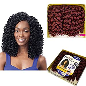 FreeTress Ringlet Wand Curl 2X Synthetic Braiding Hair Crochet (Pack of 3) (1)