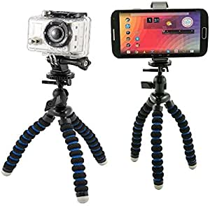 Arkon Universal Smartphone Holder & Flexible Mini Tripod for for iPhone 6 Plus iPhone 6 5C 5S Samsung Galaxy Note 4 3 S6 S5 S4, & GoPro HERO4 HERO3+ GoPro HERO3 GoPro HERO2 and GoPro HERO Action Cameras
