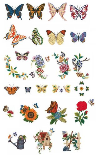 Designs on a Brother Embroidery Card SA347 ()