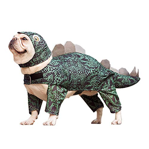 Dinosaur Dog Costume Funny Halloween Stegosaurus Dog Costume Cute Triceratops Pet Costume Dog Cosplay Jumpsuit Fashion Dress for Puppy Small Medium Large Dogs Special Events Photo Props -