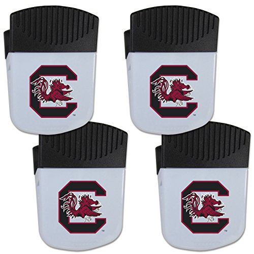 Siskiyou NCAA South Carolina Fighting Gamecocks Chip Clip Magnet with Bottle Opener, 4 ()
