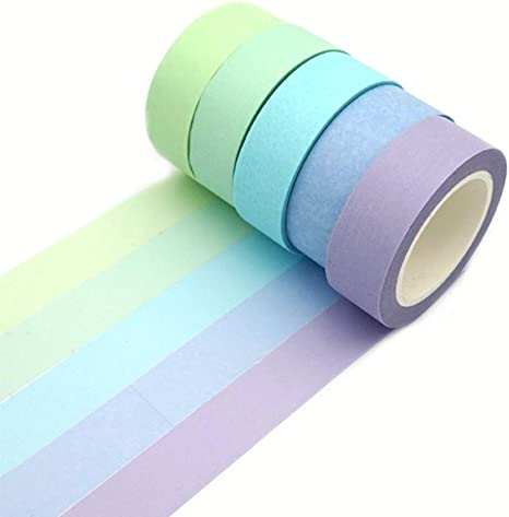 New DIY Floral Washi Sticker Decor Roll Paper Masking Adhesive Tape Crafts 、Pop