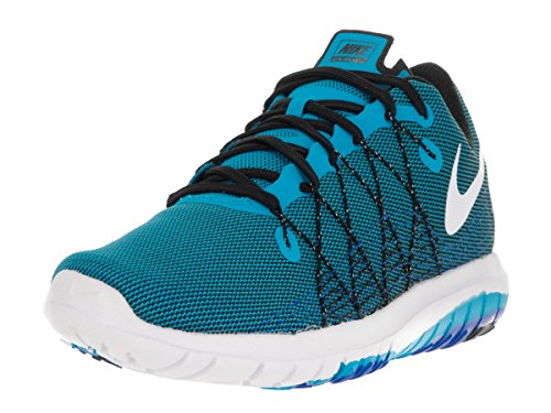 Nike Mens Flex Fury 2 Löparsko Blått Sken / Vit Svart Rcr Blå