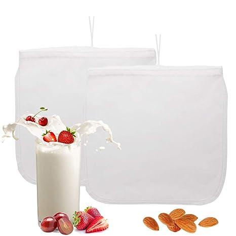 Bolsa de leche de nuez - Rejilla de malla de alimentos reutilizable - Bolsa de filtro