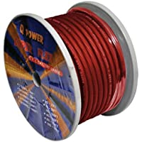 Q Power 4GARED 100-Feet 4-Gauge, Ultra Flexible Super Flex Power/Ground Wire for Amp Installation (Red)