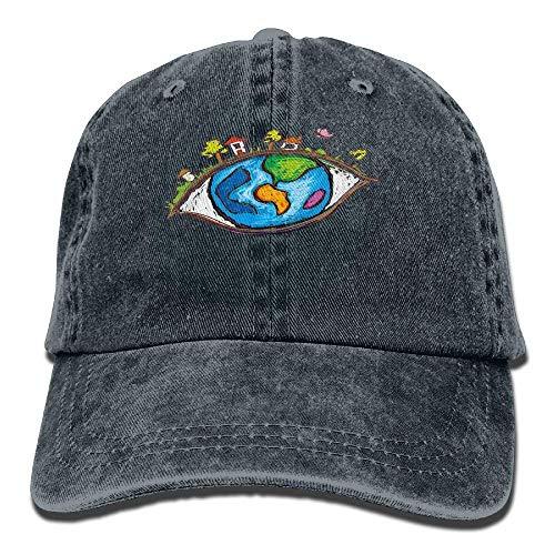 JHDHVRFRr Hat Eye World Denim Skull Cap Cowboy Cowgirl Sport Hats for Men Women