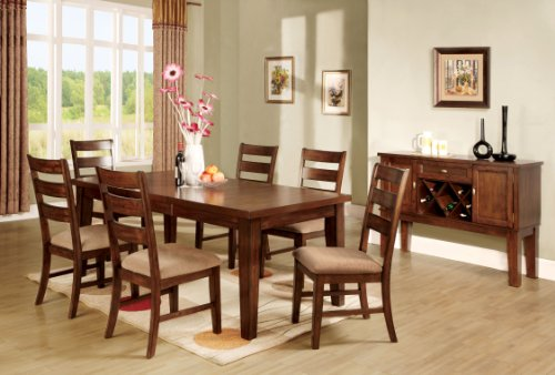Mission Rectangular Dining Table (Furniture of America Terri Mission Style Table with 18-Inch Expandable Leaf, Antique Oak Finish)