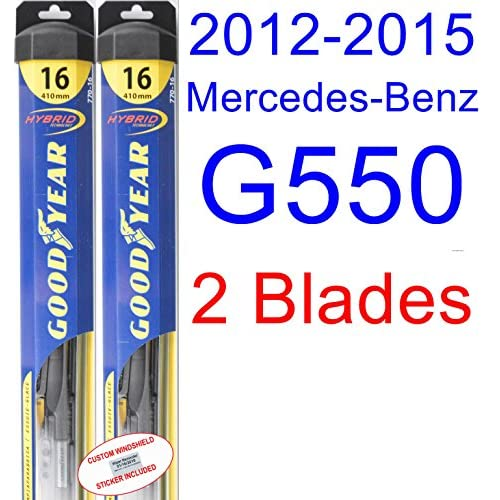 2012-2015 Mercedes-Benz G550 Replacement Wiper Blade Set/Kit (Set of 2 Blades) (Goodyear Wiper Blades-Hybrid) (2013,2014) supplier