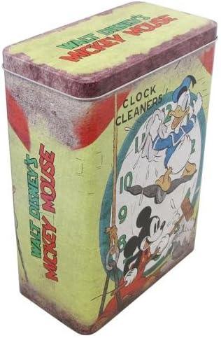 Vintage Disney Mickey Mouse 24 x 17 cm caja de lata grande - verde: Amazon.es: Hogar