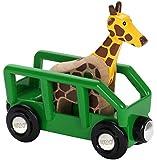 BRIO World - Safari Giraffe & Wagon