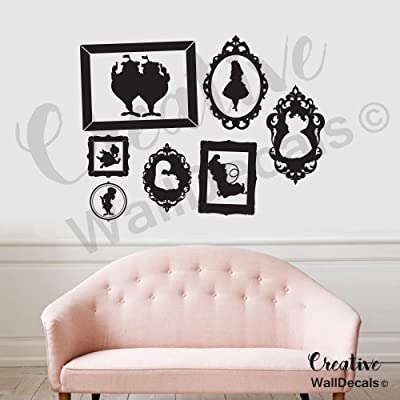 CreativeWallDecals Vinyl Wall Decal Sticker Alice in Wonderland Kids Frame Nursery Bedroom r1872: Home & Kitchen